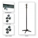 Wire Mgt., Coat Tree & Casters