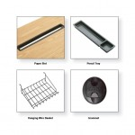 Paper Slot, Pencil Tray, Basket & Grommets